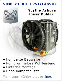 Scythe Ashura Tower CPU Kühler. Simply Cool. Erstklassig