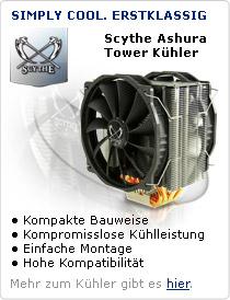 Scythe Ashura Tower CPU Kühler. Simply Cool. Erstklassig