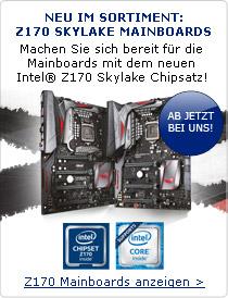 Machen Sie sich bereit für die Mainboards mit dem neuen Intel® Z170 Skylake Chipsatz!