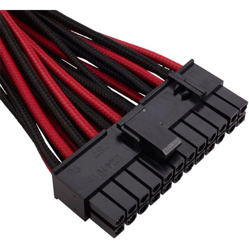 corsair premium sleeved kabel set rot schwarz. Black Bedroom Furniture Sets. Home Design Ideas