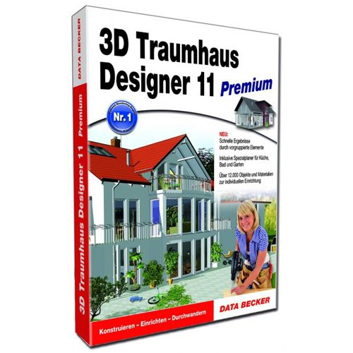 Data becker 3d traumhaus designer 11 prem for Diseno de interiores 3d data becker