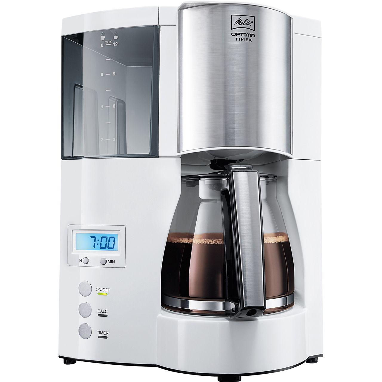 melitta kaffeemaschine optima mit timer weiss ~ Kaffeemaschine Ohne Abschaltautomatik