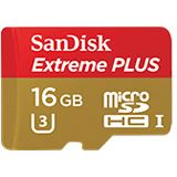 16 GB SanDisk Extreme Plus microSDHC Class 10 U3 Retail inkl. Adapter auf SD