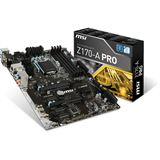 MSI Z170-A PRO Intel Z170 So.1151 Dual Channel DDR4 ATX Retail