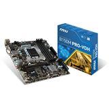 MSI B150M Pro-VDH Intel B150 So.1151 Dual Channel DDR4 mATX Retail