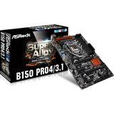 ASRock B150 Pro4/3.1 Intel B150 So.1151 Dual Channel DDR4 ATX Retail