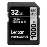 32 GB Lexar Professional SDHC 1000x Class 10 U3 Retail