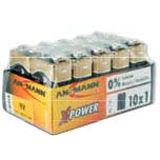 """Ansmann Alkaline Batterie """"X-Power"""",9V E-Block, 10er Display"""