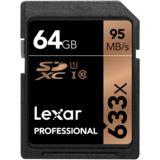 64 GB Lexar Professional SDXC 633x Class 10 Retail