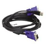 (€8,28*/1m) 1.80m D-Link KVM Anschlusskabel VGA 15pol Stecker + USB A Stecker auf VGA 15pol Stecker + USB B Stecker Schwarz