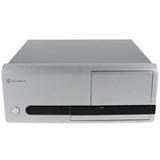 ATX Silverstone La Scala LC-20S Desktop Gehäuse o.NT Silber