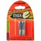 ANSMANN maxE AAA / Micro Nickel-Metall-Hydrid 800 mAh 2er Pack