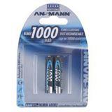 ANSMANN Akkus AAA / Micro Nickel-Metall-Hydrid 1000 mAh 2er Pack