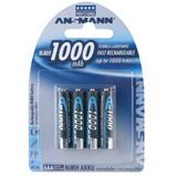 ANSMANN Akkus AAA / Micro Nickel-Metall-Hydrid 1000 mAh 4er Pack