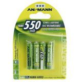 ANSMANN Akkus AAA / Micro Nickel-Metall-Hydrid 550 mAh 4er Pack