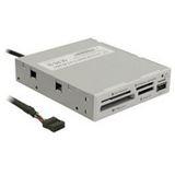 "Frontpanel InLine Card Reader USB 2.0 3,5"" (8,89cm) Grau"