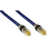 (€2,18*/1m) 5.00m InLine Audio/Video Anschlusskabel Premium-Line Cinch Stecker auf Cinch Stecker Blau vergoldet