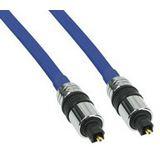 (€2,97*/1m) 3.00m InLine Audio Anschlusskabel Premium-Line Toslink Stecker auf Toslink Stecker Blau