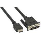 (€3,95*/1m) 2.00m InLine HDMI Adapterkabel HDMI-Stecker auf DVI 18+1 Stecker Schwarz