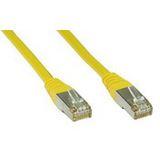 (€0,98*/1m) 5.00m InLine Cat. 5e Patchkabel F/UTP RJ45 Stecker auf RJ45 Stecker Gelb