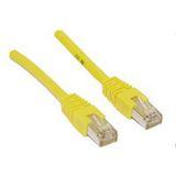 (€0,36*/1m) 30.00m InLine Cat. 5e Patchkabel SF/UTP RJ45 Stecker auf RJ45 Stecker Gelb