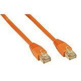 (€13,00*/1m) 0.30m InLine Cat. 5e Patchkabel SF/UTP RJ45 Stecker auf RJ45 Stecker Orange