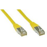 (€15,60*/1m) 0.25m InLine Cat. 6 Patchkabel S/FTP PiMF RJ45 Stecker auf RJ45 Stecker Gelb Kupfer