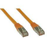 (€1,63*/1m) 3.00m InLine Cat. 6 Patchkabel S/FTP PiMF RJ45 Stecker auf RJ45 Stecker Orange doppelt geschirmt / Kupfer / PVC