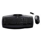 Logitech Cordless Desktop MX3200 Tastatur+Maus Schwarz Deutsch PS2/USB
