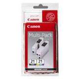 Canon Tinte BCI-21 Multipack 0954A379 schwarz, cyan, magenta, gelb