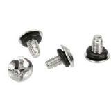 InLine 10-teilig 5mm mit Gummi Unterlegscheiben Schraubensatz für Mainboards (77784M)