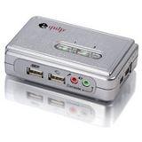 Equip 2-Port USB+Audio KVM Switch Silber inkl. Kabelsatz