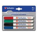 Verbatim MULTI MEDIA MARKER 4PCS/PACK (BLACK/RED/BLUE/GREEN)