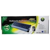 Wintech Corded Desktop KBM-65 Tastatur+Maus Schwarz Deutsch PS2/USB
