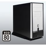 ATX Arctic Cooling Silentium T5 ECO 80 Midi Tower 550 Watt Schwarz/Weiß