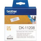 Brother DK-11208 Universal-Etiketten 3.8x9.0 cm (1 Rolle)