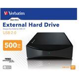 "500GB Verbatim External Hard Drive 47510 3.5"" (8.9cm) USB 2.0 schwarz"
