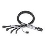 (€34,90*/1m) 1.00m Adaptec SAS Anschlusskabel SFF-8087 Stecker auf 4xSATA Stecker Schwarz Sideband