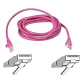 (€15,60*/1m) 0.25m InLine Cat. 5e Patchkabel SF/UTP RJ45 Stecker auf RJ45 Stecker Pink