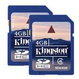 4 GB Kingston Standard Doppelpack SDHC Class 4 Retail