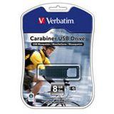 8 GB Verbatim Store `n` Go Carabiner schwarz USB 2.0