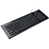 Revoltec K10 Alu Tastatur Schwarz Deutsch USB