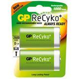GP Batteries Akku Ni-MH D (Mono) ReCyko+ / 2er Blister
