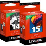 Lexmark 80D2979 No. 14 + No. 15 schwarz/farbig