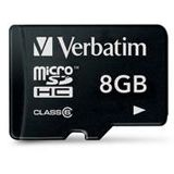 8 GB Verbatim Standard microSDHC Class 6 Retail
