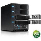 "3,5""(8,89cm) Fantec Externes Gehäuse 4xHDD SATA USB3.0+eSATA"