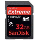 32 GB SanDisk Extreme HD Video SDHC UHS-I Retail