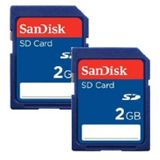 2 GB SanDisk SD Class 4 Retail 2er-Pack