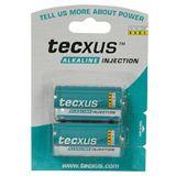 Tecxus® Batterie Alkali Baby C, 2er Folie