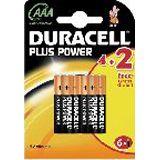 Duracell Plus Power AAA / Micro Alkaline 1.5 V 6er Pack